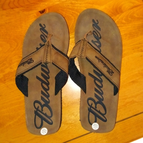 872b4bea6fb NEW mens Budweiser sandals. M 5bb7d75b5c4452309e6d6e81